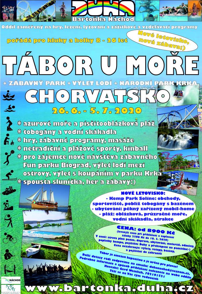 Tábor v Chorvatsku plakát oddíl
